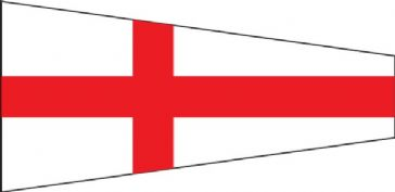 Number 8 Code Signal Pennant